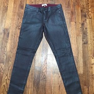 Paige  Jeans Burgundy & Glitter Jeans SZ 31